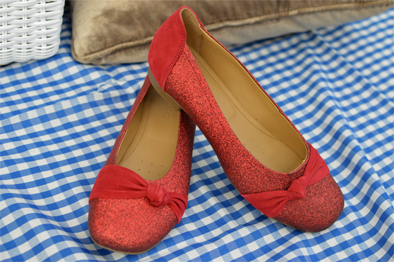 Meghan red glitter suede ballet pump shoe Royal Wedding Limited Edition Hotter Shoes