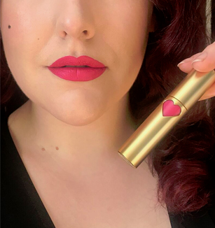 Lola Von Rose vegan cruelty free made in USA vintage liquid lipsticks gold Miss Amy May