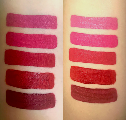 Lola Von Rose vintage vegan cruelty free liquid lipsticks swatches Victorian Roses, Pink Roses, Red Roses, Retro Red, Vintage review