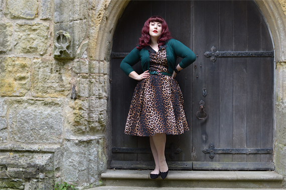 Hell Bunny leopard print Panthera 50s dress discount code Miss Amy May plus size pinup swing