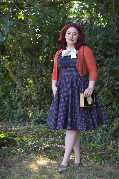 Miss Amy May Hogwarts vintage style Ravenclaw student pinup plus size inspired Harry Potter Cosplay disneybound