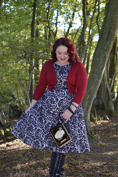 Glamorous Black Lace Hepburn dress Lady V London plus size pinup Miss Amy May size fit review audrey dress