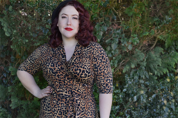 40283ac3aa47 Joanie Clothing Lotta leopard print wrap dress plus size pinup Miss Amy May  review