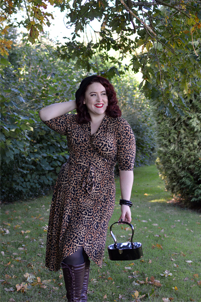 Joanie Clothing Lotta leopard print wrap dress plus size pinup Miss Amy May review