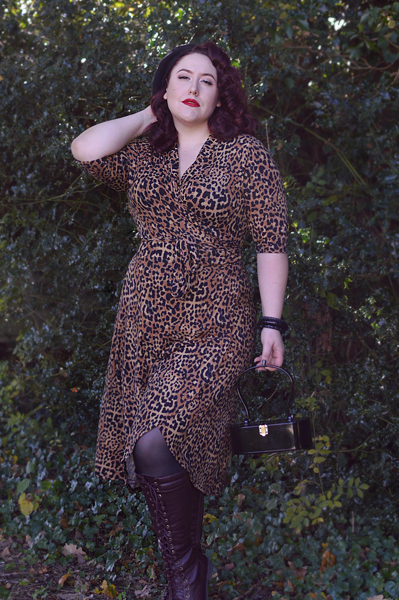 c67f6d96bba5 ... Joanie Clothing Lotta leopard print wrap dress plus size pinup Miss Amy  May review ...