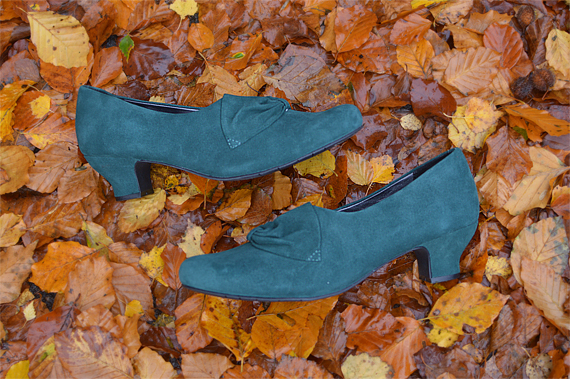 Hotter Donna Deep Teal suede heels shoes Miss Amy May review