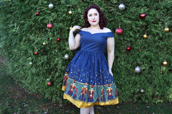Hell Bunny Nutcracker 50s Christmas dress discount code AMYMAY20!% plus size pinup vintage Miss Amy May fit size review