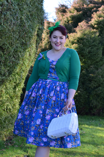 Hell Bunny Violetta 50s floral dress size fit review plus size pinup Miss Amy May