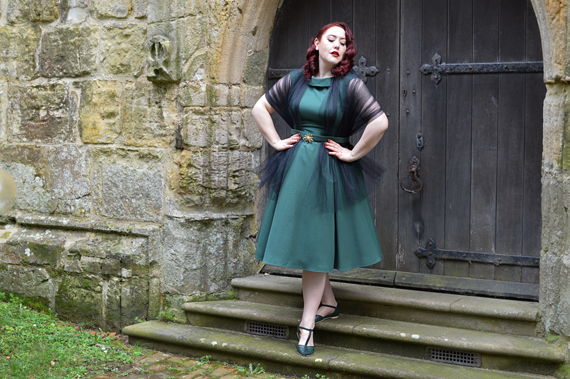 Arista-Gia dress Miss Candyfloss size fit review plus size Miss Amy May Dark Green Toscana shoes by Charlie Stone Shoes