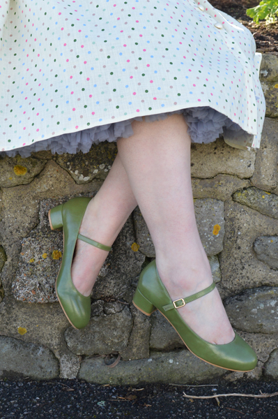 Green Maryjane Block heels gifted by Lulu Hun Collectif Clothing shoes fit size review Miss Amy May