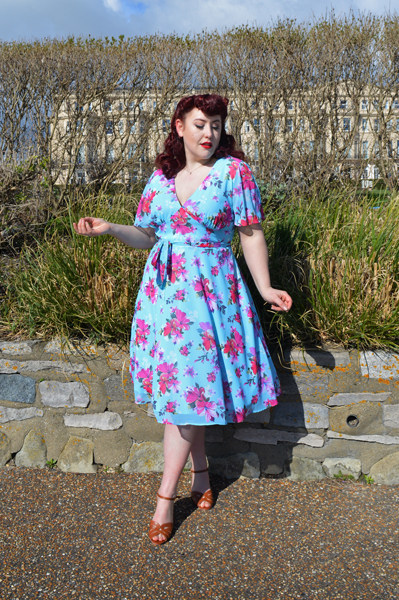 Hell Bunny Primavera Dress plus size fit review Miss Amy May discount code hellbunny.com