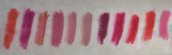 Maybelline Superstay Ink Crayon Matte full range swatches review