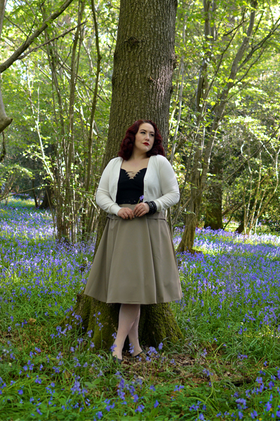 Aurora-Tan dress gifted by Miss Candyfloss vintage inspired Sleeping Beauty Aurora cosplay disneybound Miss amy May plus size