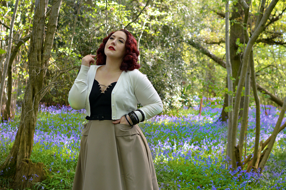 Aurora-Tan dressgifted by Miss Candyfloss vintage inspired Sleeping Beauty Aurora cosplay disneybound Miss amy May plus size
