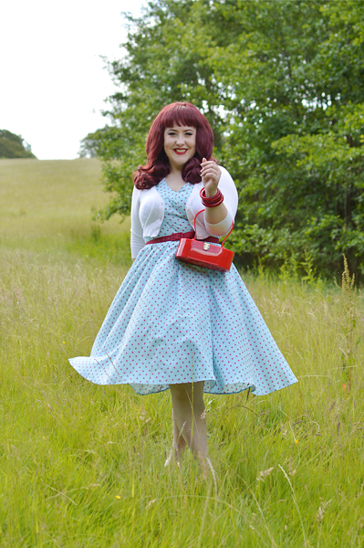 Giselle-Regina dress gifted by Miss Candyfloss fit size review plus size pinup Miss Amy May Fairy tales Disney collection
