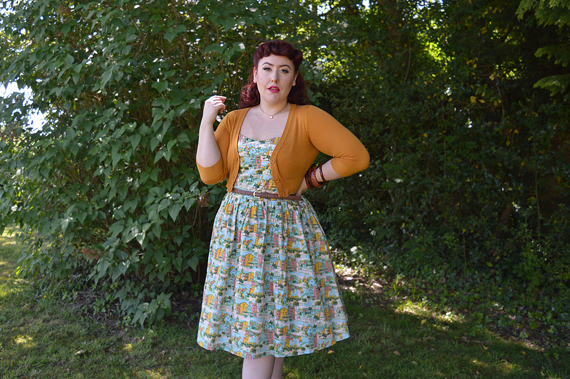 Joanie Clothing Provence print Sunday dress plus size pinup fit review gifted Miss Amy May