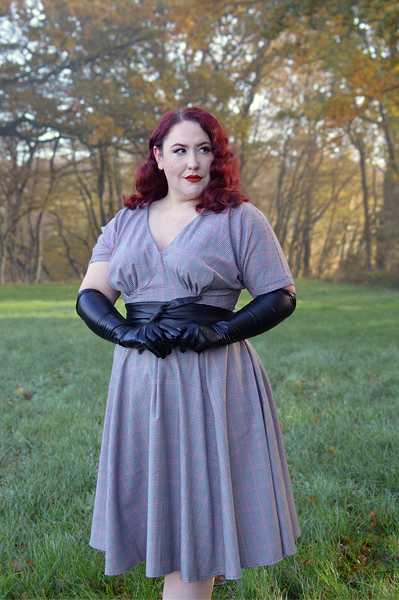 Norina-Lou dress gifted by Miss Candyfloss fit sizing plus size pinup review Miss Amy May