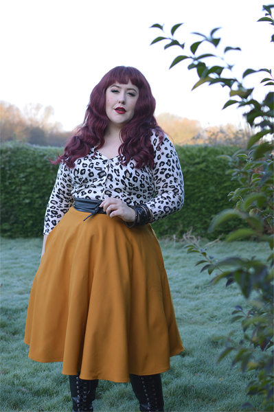 Amelie 50s mustard skirt Hell Bunny gifted Miss Amy May plus size pinup fit size review discount code Amymay20!% hellbunny.com