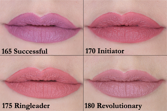 Swatches Maybelline Superstay Matte Ink liquid lipstick new shades released Jan 2020 Successful Initiator Ringleader Revolutionary Mover