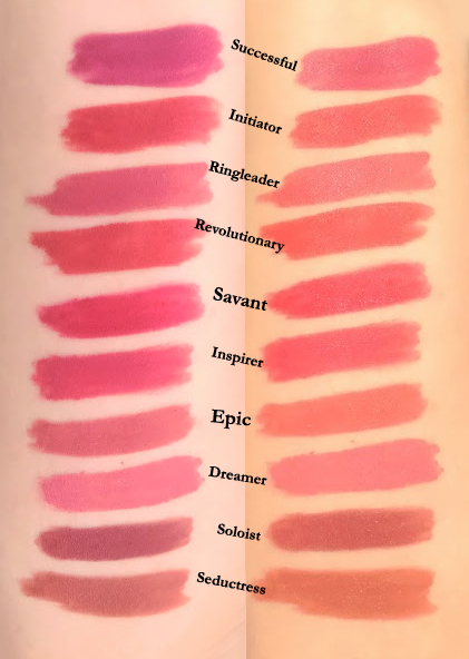 Swatches Maybelline Superstay Matte Ink liquid lipstick new shades released Jan 2020 comparison Revolutionary Successful Ringleader Initiator Mover