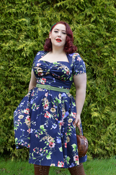 Finella-Lee dress gifted by Miss Candyfloss plus size fit review Miss Amy May