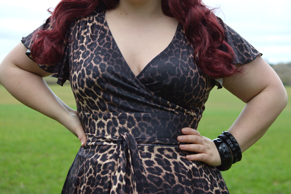 Hell Bunny Eartha Leo dress flutter sleeve plus size fit review Miss Amy May discount code Hellbunny.com Amymay20!%