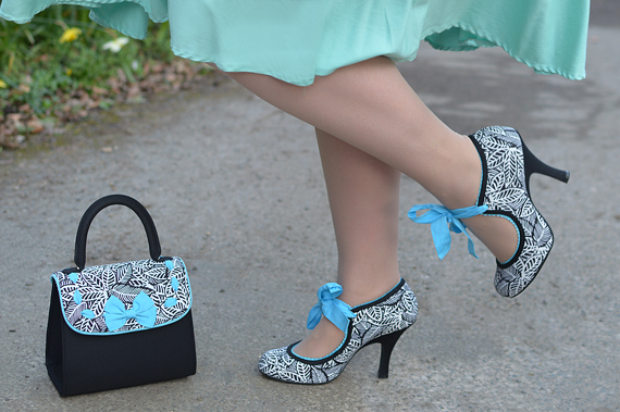 Black and White Willow heels Santiago bag gifted by Ruby Shoo review Miss Amy May