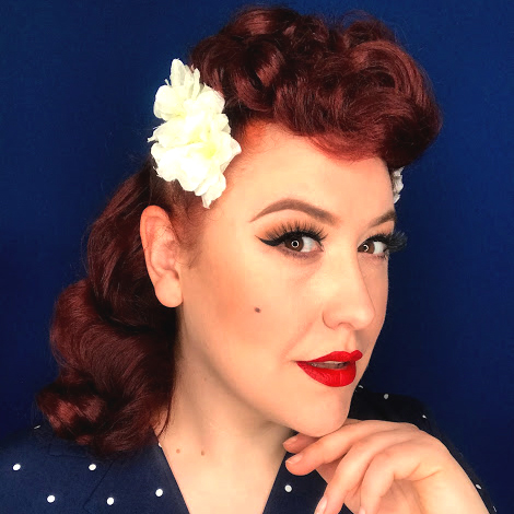 Miss Amy May Easy Half Poodle hairstyle, sheltering at home vintage style