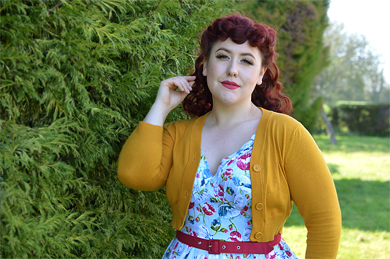 Bassie-Regina dress gifted by Miss Candyfloss plus size pinup fit size review Miss Amy May