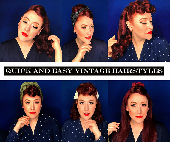 Quick And Easy Pinup Hairstyles Quarantine In Style Miss Amy May