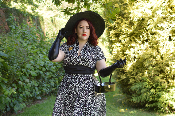 Size and fit review by plus sized pinup Miss Amy May of the miss Candyfloss Elina-Lou dress