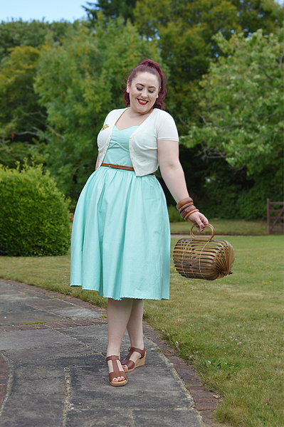 Miss Amy May reviews the tan Martinique wedges gifted by Hotter Shoes