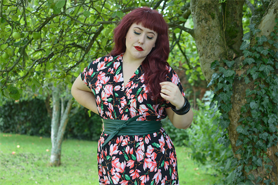 Fit and size review of the Mia Suri Floral Maxi Dress by Dolly & Dotty by plus sized pinup Miss Amy May