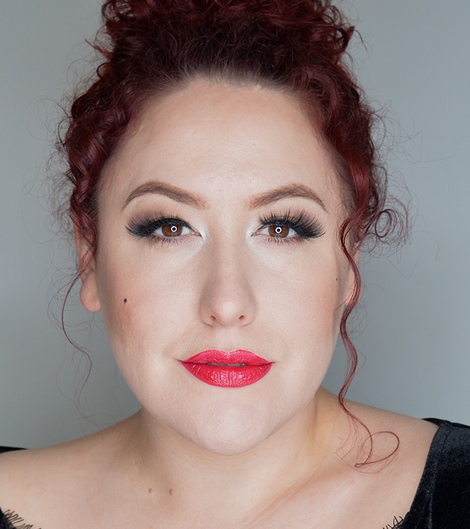 Revlon Colorstay Satin Lipstick in On A Mission worn by Miss Amy May for a swatch and wear review