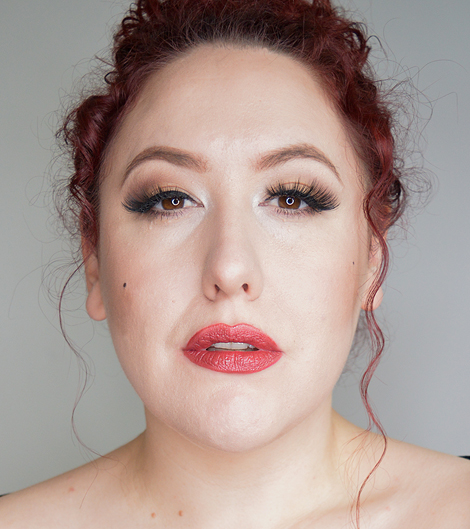 Revlon Colorstay Satin Lipstick in Silky sienna worn by Miss Amy May for a swatch and wear review